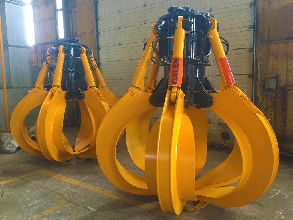 HYDRAULIC SCRAP GRAPPLE polyp attachments 09.02.2021